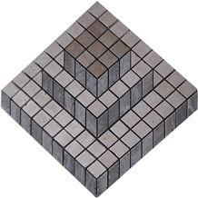 3d Mosaic Mk-043, Zanjan Beige Travertine Mosaic