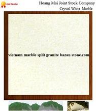 Crystal White Marble Tiles & Slabs, White Marble Viet Nam Tiles & Slabs