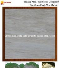 Fine Grain Cloudy Veins Marble, Viet Nam White Marble Slabs & Tiles
