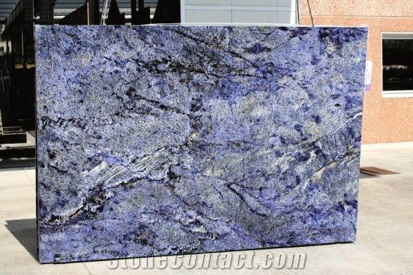 Azul Bahia Blue Granite Slab Brazil Blue Granite From