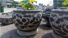 China Blue Limestone Flower Pots,Planters,Flower Stand