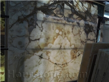 Beige Onyx Book Match Translucent Walling Tile