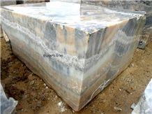 Tiger Skin Onyx Blocks, Multicolor Onyx Blocks Turkey