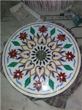 Marble Inlay Table Top Pietra Dura Coffee Table