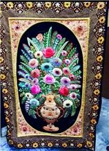 Jewel Carpet with Semi Precious Stone