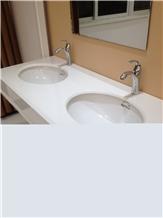 Nano-Crystallized Glass Stone Bath Top with Wash Basin