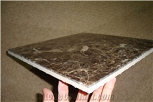 Dark Emperador Marble Composite with Ceramic Tile