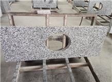 G439 White Granite,Big White Flower Granite Top