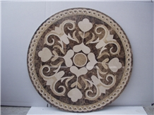 Marble Stone Waterjet Medallion Pattern Tile