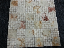 Sunny Beige Marble Shaped Mosaic Tile