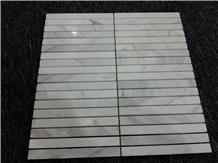 Volakas White Marble Stone Mosaic Tile