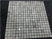 White Wood Marble Mosiac Tile,Serpegiante Mosaic
