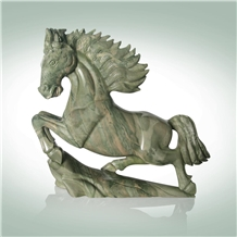 Green Granite Sculpture,Huaan Jade Horse Sculpture