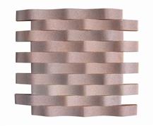 Rosalia Pink Marble Split Subway Mosaic Tiles