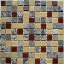Stone and Glass Mosaic Pattern