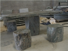 Stone Bench and Table, Exterior Furniture