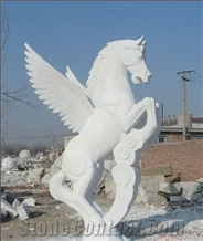 White Marble Horse Sculptures, Animal Sculpture