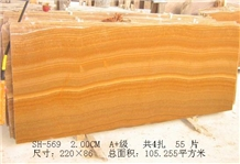 Wood Grain Yellow, Wooden Yellow Marble Slabs