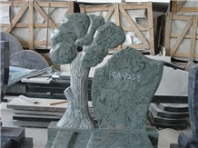 Green Color Tree Monuments, Tombstones, Headstone