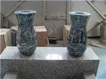 Green Multi Color Granite Vases Flower Holders