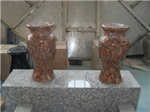 Red Color Vases, Monumental/Memorial Accessories