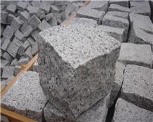 China G602 Grey Natural Granite Paving Cubestone