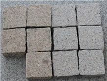 G682 Yellow Cubestone Walkway Paving Granite
