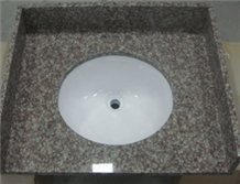 G687 Pink Granite Bathroom Vanity Top