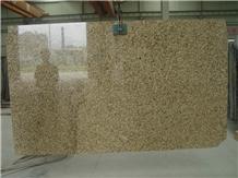 Polished Tiger Skin Yellow Granite Slab & Tile