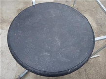 Blue Limestone Table Top, Stone Round Table