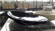 Shanxi Black Granite Oval Sinks Vessel Sink