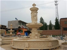 Yellow Marble Pool Fountain Marble Garden Fountain