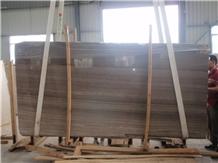 China Coffee Brown Wood Marble Tiles & Slabs