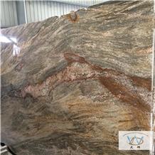 Desert Storm Granite Slabs, Brazil Yellow Granite
