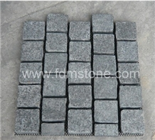Grey Granite G654 Meshed Cobblestone,Outdoor Paver