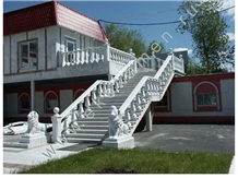 Akmonia Silver Marble Staircase