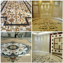 Marble Water Jet Medallion Tile,Stone Pattern