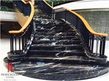 Nero Marquina Marble Stairs Steps Treads Riser