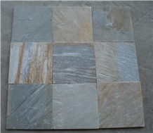 Split Face Natural Multicolor Slate Slabs & Tiles