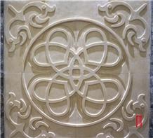 Iran Cream Limestone 3d Cnc Wall Decor