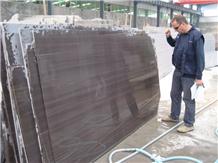Coffee Wenger Woode Vein Purple Sandstone Slabs, China Brown Sandstone Tile