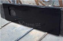 India Black Galaxy Custom Granite Countertops