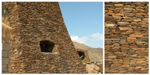 Sedona Brown Schist Dry Stacked Walling,Us Schist Stone