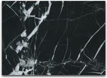 Nero Marquina Black Polished Marble Tile Slab Wall