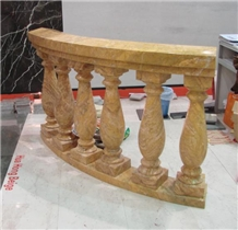 Empire Gold Marble Balustrade Handrail Building Interior Stone, Marble Baluster