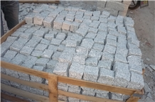 New G603 Grey Sesame Granite Cube Stone Cobble Pavers,Exterior Garden Stepping