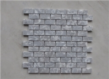 Running Bond Mosaic Lighter Grey Marble Mosaic