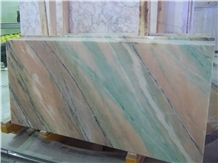 Rosa Portogallo, Pink Marble with Green Veins