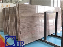 Chinese Grey Wood Vein Marble Tiles & Slabs