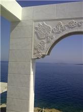 Bianco Ibiza Sandblasted Marble